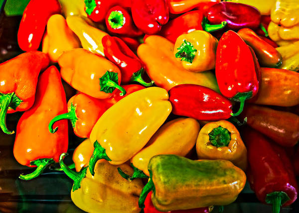 Photograph - Hot Red Peppers by Donna Lee