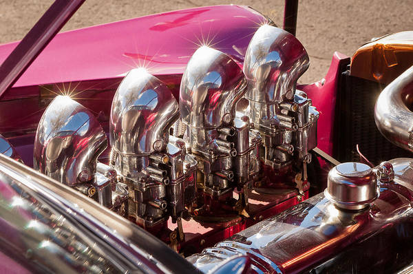 Chrome Engine Photograph - Hot Rod Engine by Jill Reger