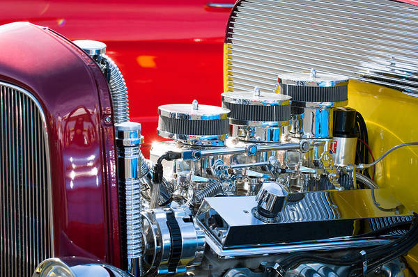 Rods Photograph - Hot Rod Enginge by Jill Reger