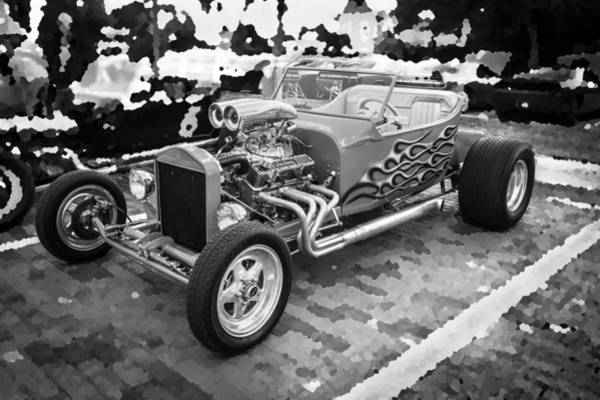 Street Racer Photograph - Hot Rod Row Bw by Rich Franco