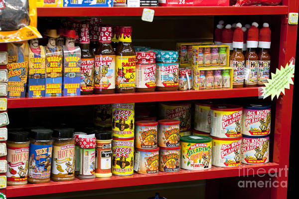 Photograph - Hot Sauce On Store Shelf by Gunter Nezhoda