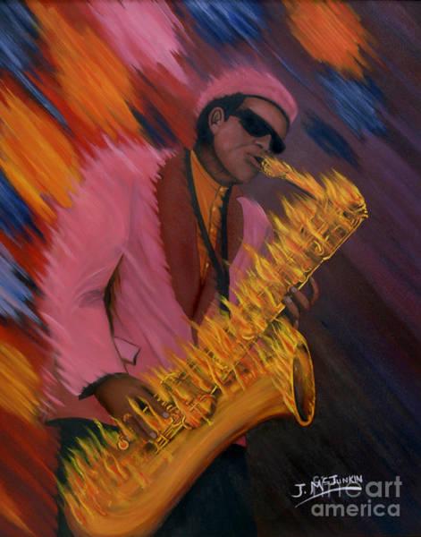 Wall Art - Painting - Hot Sax by Jeff McJunkin