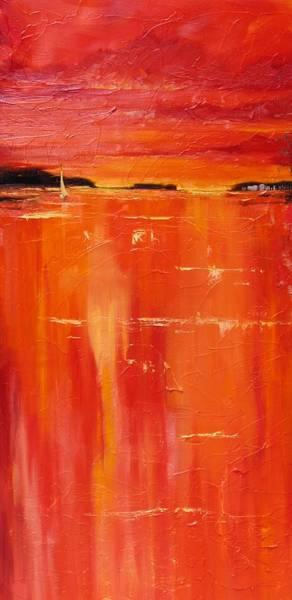 Sun Set Painting - Hot Shot Two by Laura Lee Zanghetti