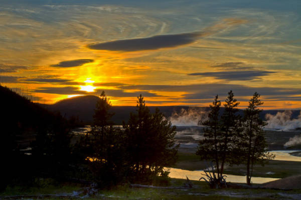 Photograph - Hot Spring Sunset by Jack R Perry