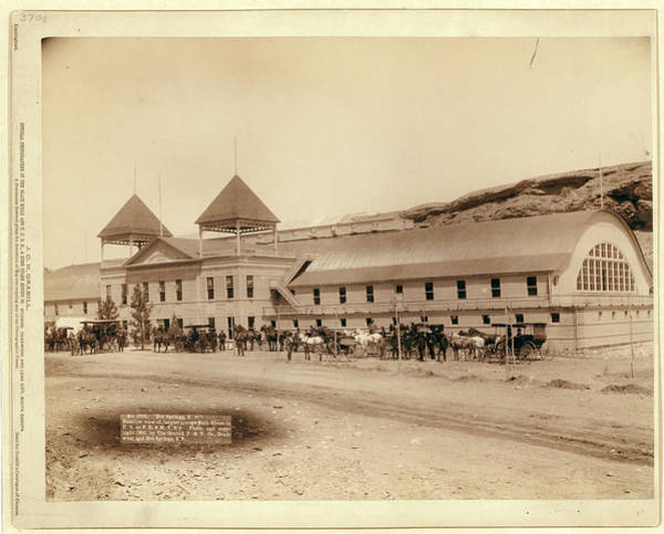 Wall Art - Photograph - Hot Springs, S.d. Exterior View Of Largest Plunge Bath by Litz Collection