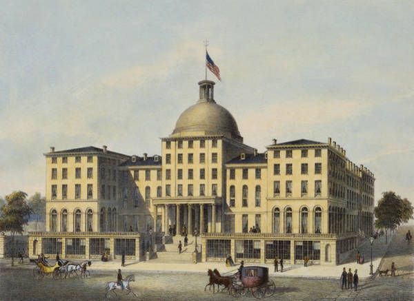 Hotel Drawing - Hotel Burnet Circa 1850 by Aged Pixel
