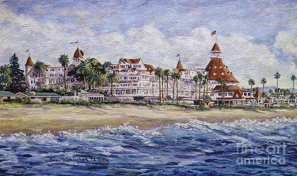 Painting - Hotel Del Beach by Glenn McNary