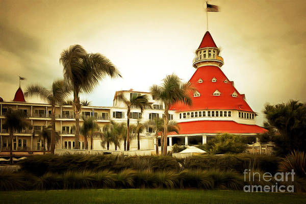 Photograph - Hotel Del Coronado In Coronado California 5d24238brun by Wingsdomain Art and Photography