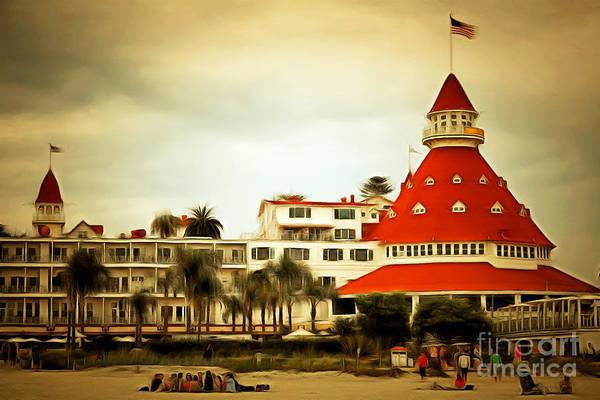 Photograph - Hotel Del Coronado In Coronado California 5d24256brun by Wingsdomain Art and Photography