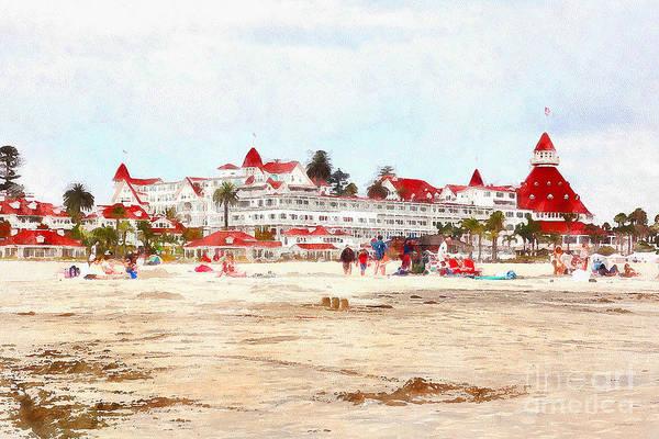 Photograph - Hotel Del Coronado In Coronado California 5d24307wcstyle by Wingsdomain Art and Photography