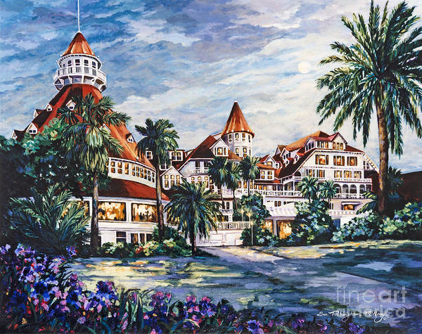 Painting - Hotel Del In The Moonlight by Glenn McNary