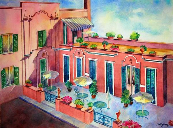 Painting - Hotel In Rome by Betty M M Wong