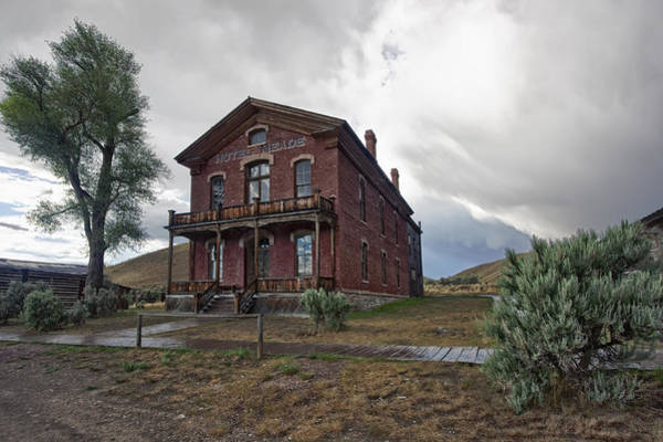 Ghosttown Photograph - Hotel Meade - Bannack Ghost Town - Montana by Daniel Hagerman