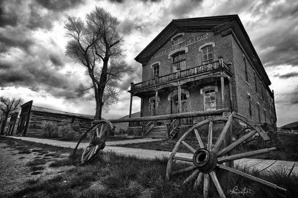 Photograph - Hotel Meade - Black And White by Renee Sullivan