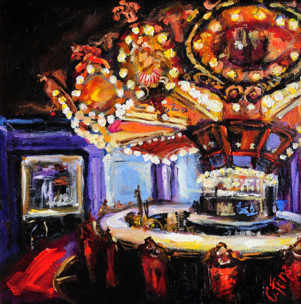 Drinking Painting - Hotel Monteleone Bar by Carole Foret