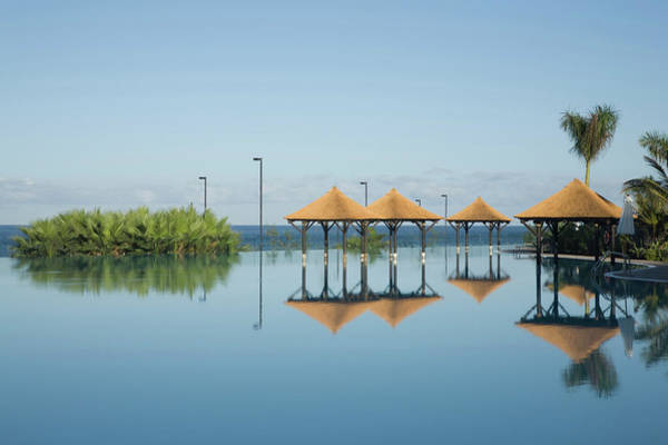 Parasol Photograph - Hotel Pool, Tenerife, Canary Islands by Cultura Rm Exclusive/ubach/de La Riva