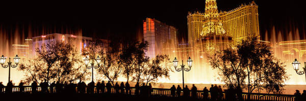 Wall Art - Photograph - Hotels In A City Lit Up At Night, The by Panoramic Images