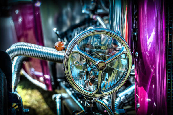 Photograph - Hotrod Headlight by David Morefield