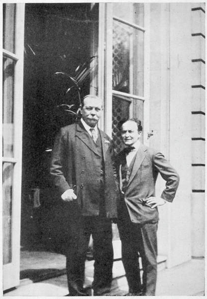 Conan Photograph - Houdini With Conan Doyle, With Whom by Mary Evans Picture Library