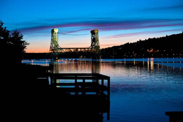 Upper Peninsula Wall Art - Photograph - Houghton Bridge Sunset by Steven Dunn