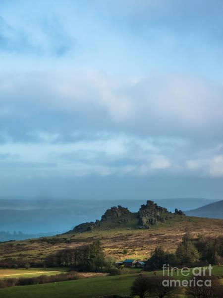 Moorland Photograph - Hound Tor On Dartmoor  by Jan Bickerton