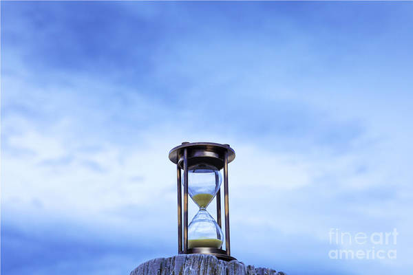 Hourglass Blue Sky Art Print by Colin and Linda McKie