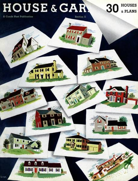 Architecture Photograph - House & Garden Cover Illustration Of Various Homes by Robert Harrer