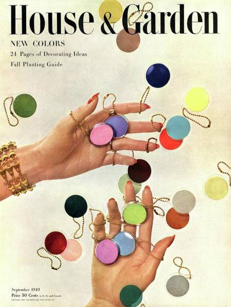Colorful Photograph - House & Garden Cover Of Woman's Hands With An by Herbert Matter