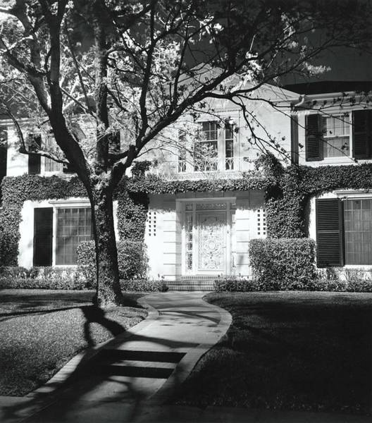 Front Yard Photograph - House And Garden At Night by William Grigsby