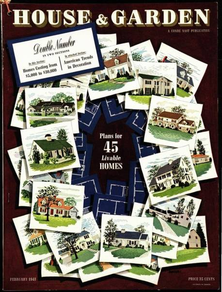 1941 Photograph - House And Garden Cover Featuring A Collage by Robert Harrer