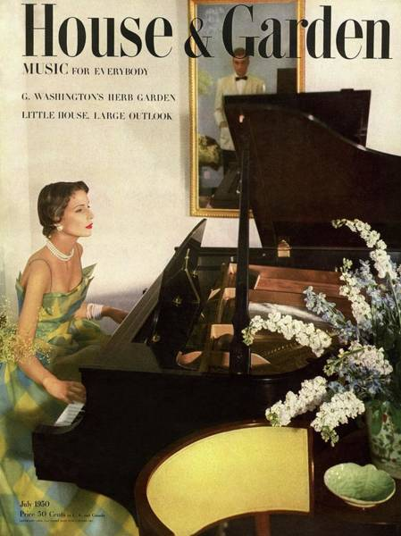 Playing Photograph - House And Garden Cover Featuring A Woman Playing by Horst P. Horst