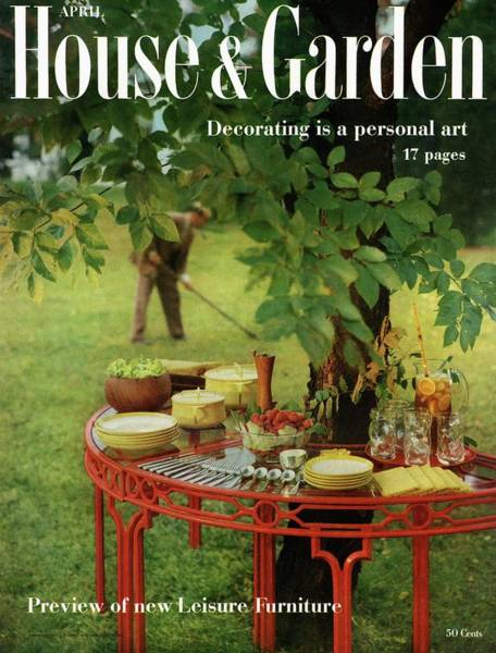 Outdoor Furniture Photograph - House And Garden Cover by Horst P. Horst