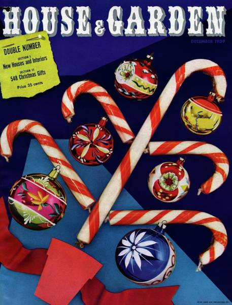Candy Canes Photograph - House And Garden Cover by Whiting and Fellowes