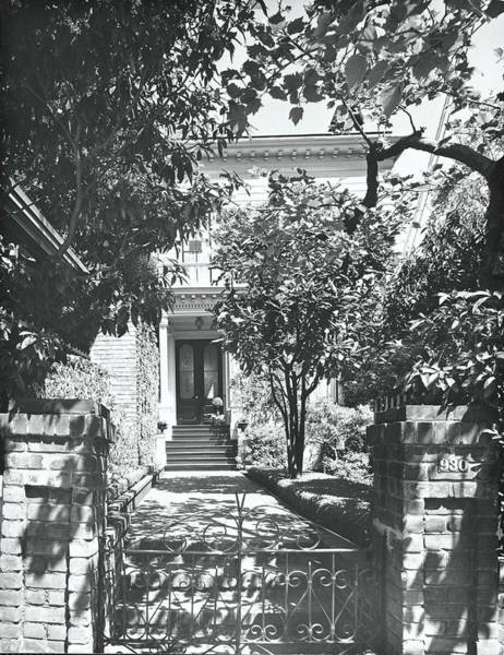 Gate Photograph - House And Garden Exterior by Fred Lyon