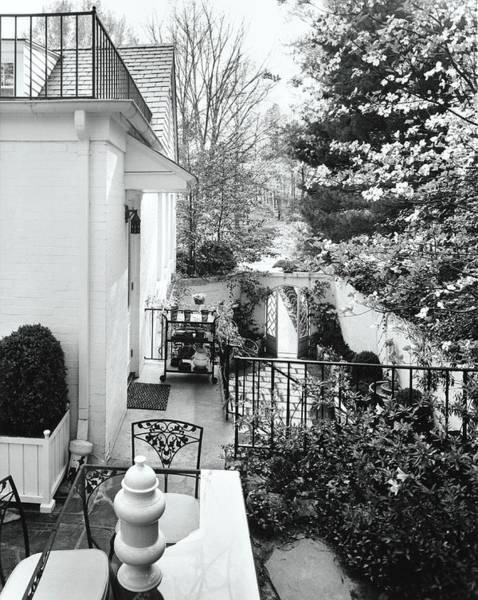 House And Garden Exterior Art Print