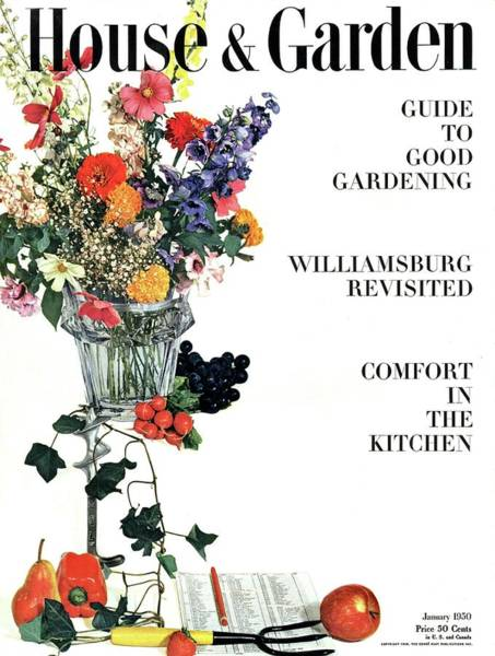 January 1st Photograph - House And Garden Guide To Good Gardening Cover by Herbert Matter