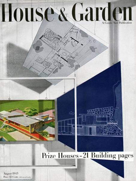 1945 Photograph - House And Garden Prize House Cover by Howard Beyer