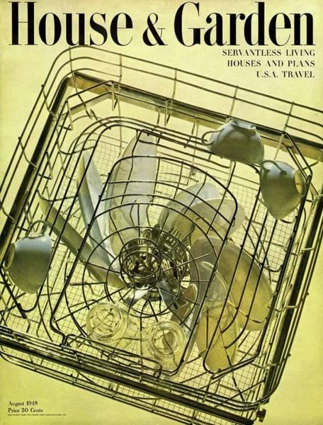 Plate Photograph - House And Garden Servant Less Living Houses Cover by Herbert Matter