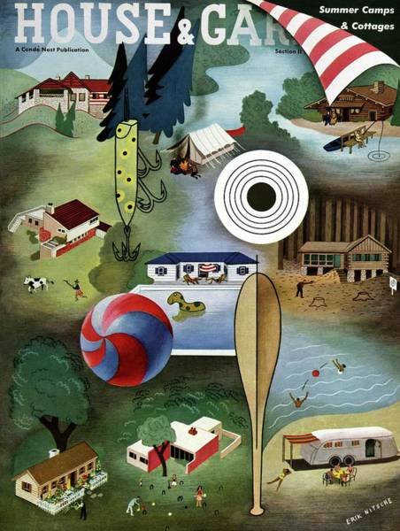 Camping Wall Art - Photograph - House And Garden Summer Camps And Cottages Cover by Erik Nitsche