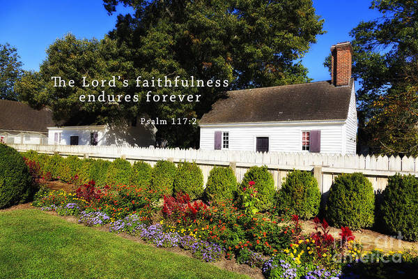 Photograph - House And Gardens With Scripture by Jill Lang