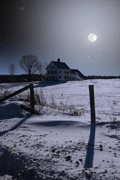 House At Night Art Print
