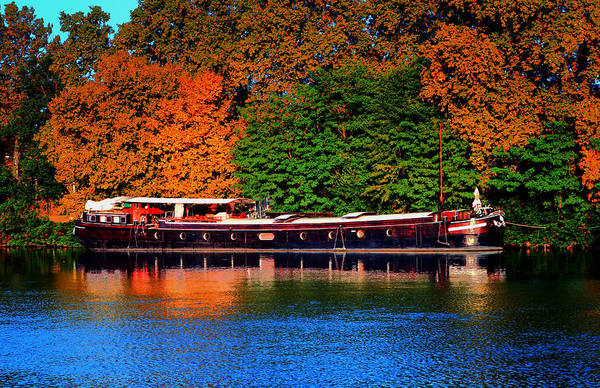 Houseboat Photograph - House Boat River Barge In France by Tom Prendergast