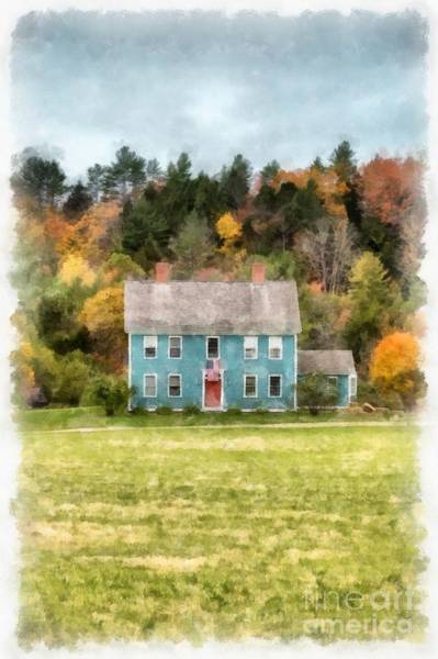Photograph - House By The Woods by Edward Fielding