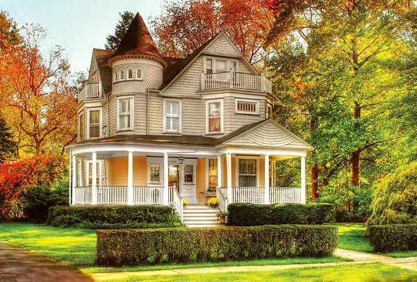 Photograph - House - Cranford Nj - Victorian Dream House by Mike Savad