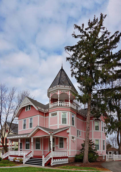 Photograph - House - Flemington Nj - The Pink Lady by Mike Savad