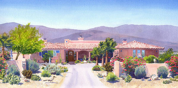 Portrait Commission Painting - House In Borrego Springs by Mary Helmreich