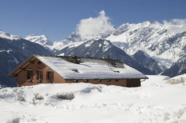 Photograph - House In The Alps In Winter by Matthias Hauser