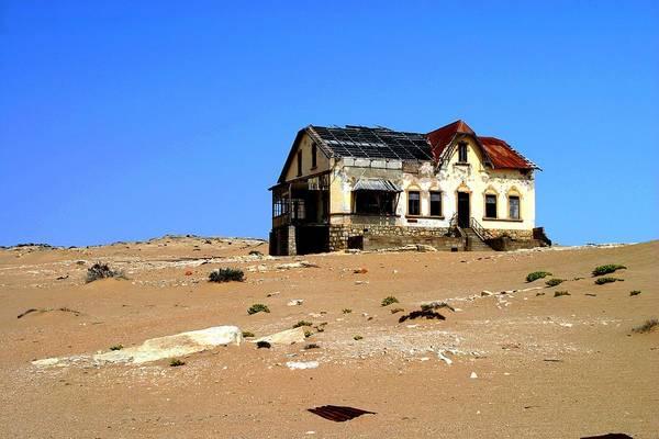 House In The Desert Art Print by Riana Van Staden