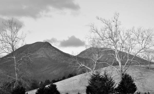 Rockbridge County Photograph - House Mountain B And W by Todd Hostetter