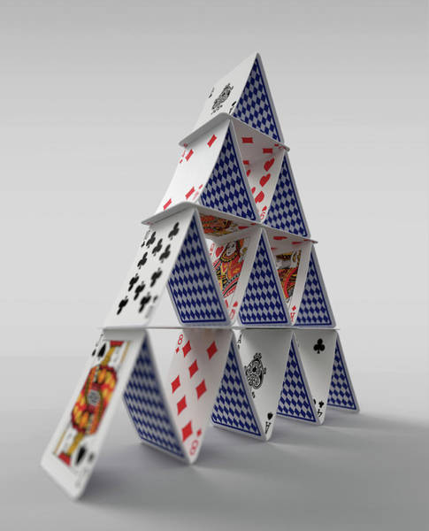 Wall Art - Photograph - House Of Cards by Ikon Images